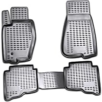 74-21-41002 Black Floor Mats, Front And Second Row