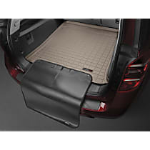 411208SK Weathertech Cargo Liner Cargo Mat - Tan, Made of Rubber, Molded Cargo Liner, Direct Fit, Sold individually