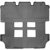 Black Floor Mats, Second And Third Row
