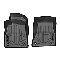 449371 Black Floor Mats, Front Row