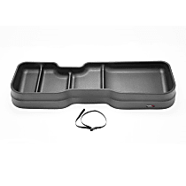 4S002 Under Seat Storage - Black, Thermoplastic, Direct Fit