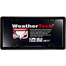 Weathertech License Plate Frame - 60020 - Black, Eastman Durastar Polymer, Universal, Sold individually