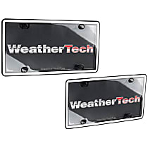 License Plate Frame - White with Black Trim, Eastman Durastar Polymer, Universal, Sold individually