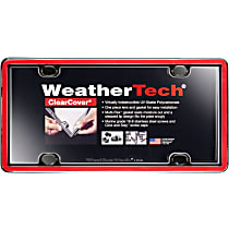 Weathertech License Plate Frame - 60022 - Red with Black Trim, Eastman Durastar Polymer, Universal, Sold individually