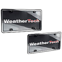 60023 License Plate Frame - Chrome with Black Trim, Eastman Durastar Polymer, Universal, Sold individually