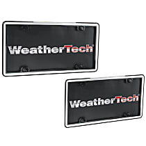 Weathertech License Plate Frame - 63021 - White with Black Trim, Eastman Durastar Polymer, Universal, Sold individually