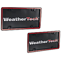 63022 License Plate Frame - Red with Black Trim, Eastman Durastar Polymer, Universal, Sold individually
