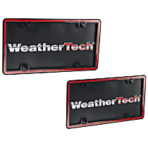 Weathertech License Plate Frame - 63022 - Red with Black Trim, Eastman Durastar Polymer, Universal, Sold individually