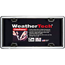 License Plate Frame - Chrome with Black Trim, Eastman Durastar Polymer, Universal, Sold individually