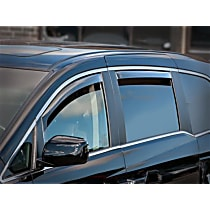 71004 Smoke Window Visor, Rear, Driver and Passenger Side - Set of 2