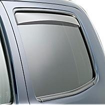 71777 Smoke Window Visor, Rear, Driver and Passenger Side - Set of 2