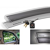 Smoke Window Visor, Rear, Driver and Passenger Side - Set of 2