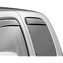 Smoke Window Visor, Rear, Driver and Passenger Side - Set of 2
