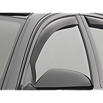 80703 Smoke Window Visor, Front, Driver and Passenger Side - Set of 2