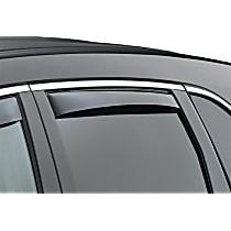 81456 Smoke Window Visor, Rear, Driver and Passenger Side - Set of 2