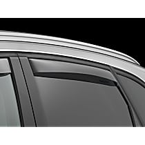 81513 Smoke Window Visor, Rear, Driver and Passenger Side - Set of 2