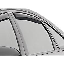 81703 Smoke Window Visor, Rear, Driver and Passenger Side - Set of 2