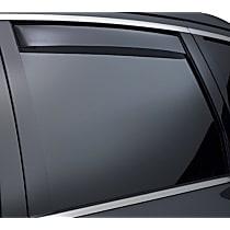 81777 Smoke Window Visor, Rear, Driver and Passenger Side - Set of 2