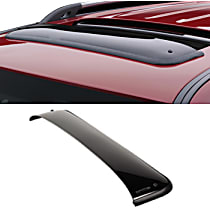 89001 Weathertech Sunroof Wind Deflector Direct Fit Smoked Acrylic Roof Air Deflector, Sold individually