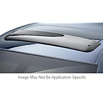 89006 Weathertech Sunroof Wind Deflector Direct Fit Smoked Acrylic Roof Air Deflector, Sold individually