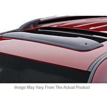 89007 Weathertech Sunroof Wind Deflector Direct Fit Smoked Acrylic Roof Air Deflector, Sold individually