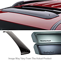Weathertech Sunroof Wind Deflector 89055 Direct Fit Smoked Acrylic Roof Air Deflector, Sold individually