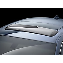 89132 Weathertech Sunroof Wind Deflector Direct Fit Smoked Acrylic Roof Air Deflector, Sold individually