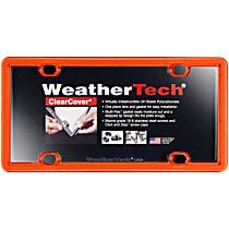 License Plate Frame - Orange, Eastman Durastar Polymer, Universal, Sold individually