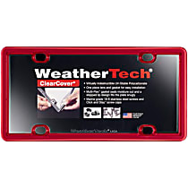 8ALPCC1 License Plate Frame - Red, Eastman Durastar Polymer, Universal, Sold individually