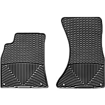 W111 Black Floor Mats, Front Row
