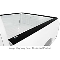 72-01105 Bed Rail Cap - Black, Plastic, Ribbed, Direct Fit, Set of 2