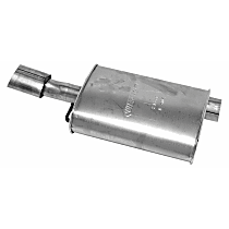 21376 Resonator - Natural, Aluminized Steel, Direct Fit, Sold individually