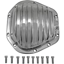 Differential Cover - Polished, Aluminum, Direct Fit, Sold individually Front