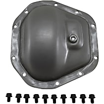 Differential Cover - Silver, Steel, Direct Fit, Sold individually Front