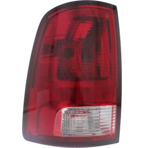Driver Side Tail Light, With bulb(s) - Clear & Red Lens, Standard Type