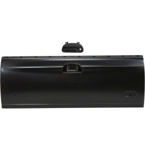 Replacement Tailgate and Tailgate Handle Kit - KIT1-32815-39-B - With Keyhole, Smooth Black, Plastic