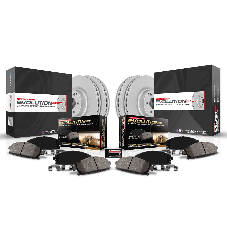 Disc Brake Rotor-Front Genuine Geomet Coated Rotor Front Power Stop JBR1303EVC
