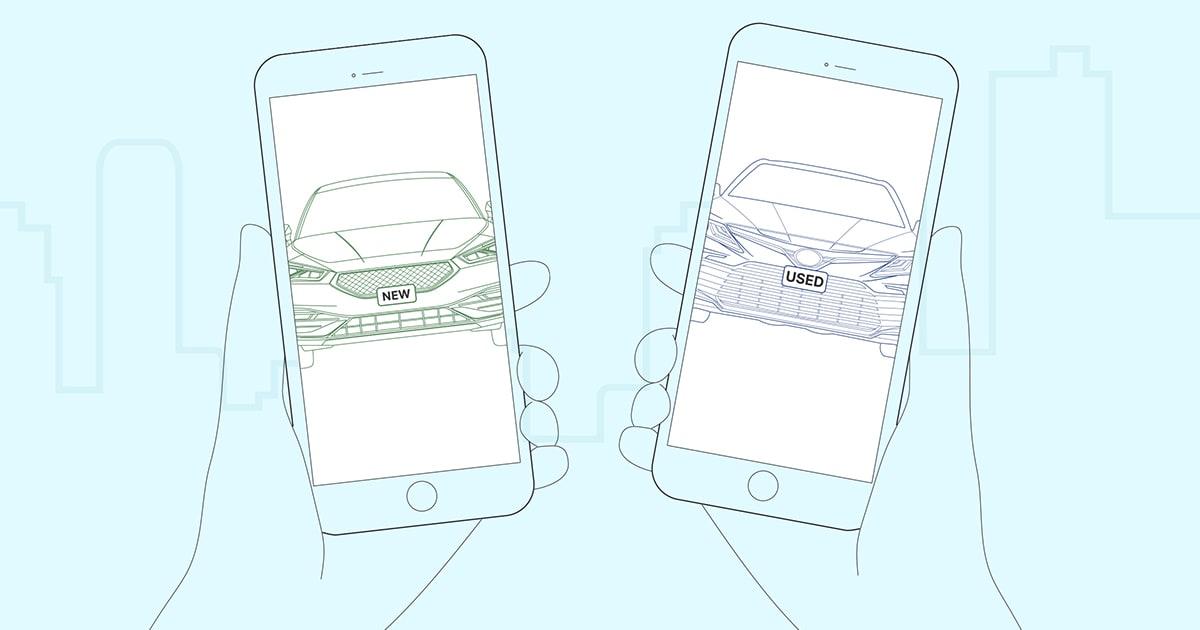 new vs used luxury cars