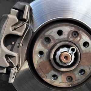 automotive brake disc and brake pad